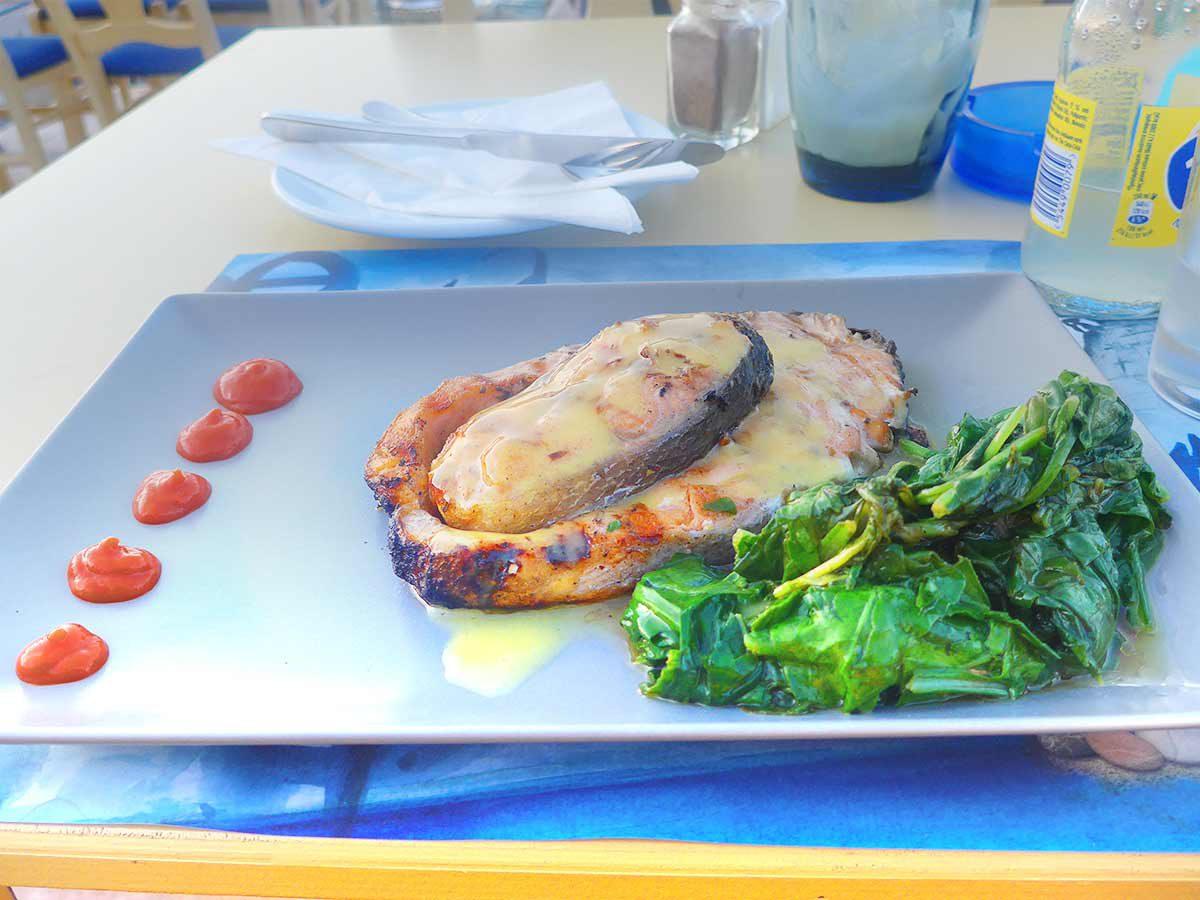 Salmon fish seafood dish Rethymnon