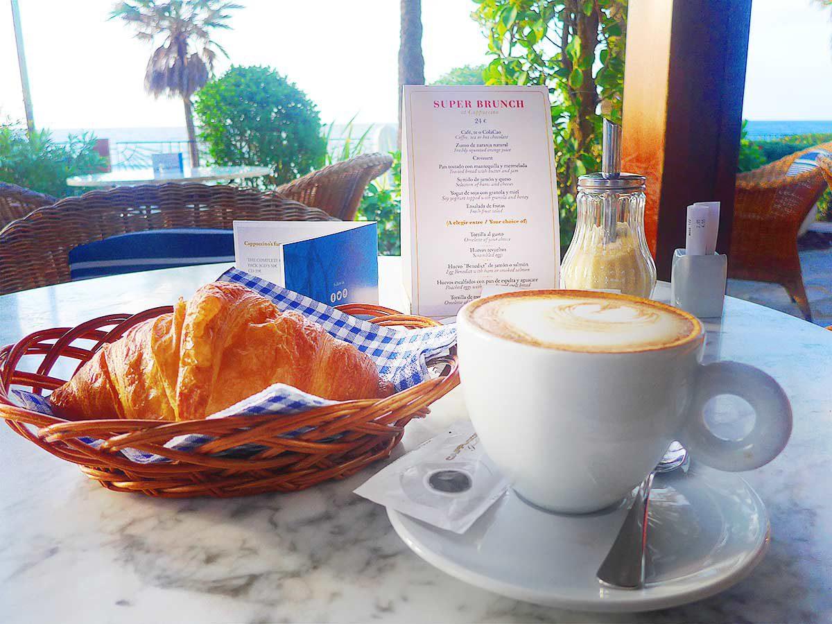 Marbella Croissant and Cappucino