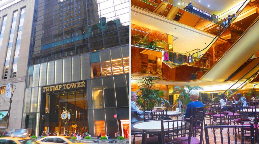 Trump tower inside and outside