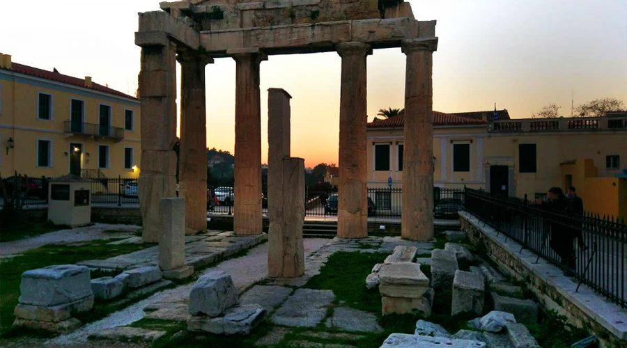 Greek ruin Akropolis in Athens