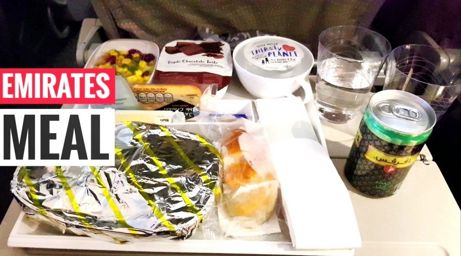 Meal non vegan on an international Emirates flight to Dubai