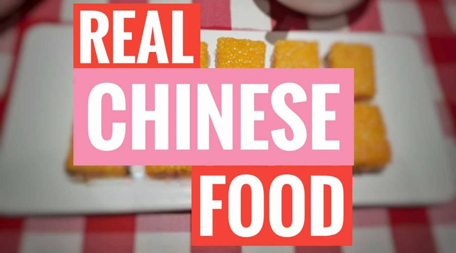 real chinese food in China
