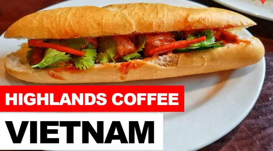 Vietnam Highlands coffee Banh Mi